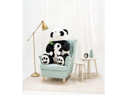 Plyšová panda s dítětem 100 cm