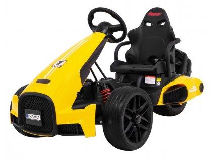 Dětská elektrická motokára žlutá