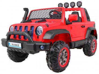 Elektrické autíčko AllRoad 4x4 červené