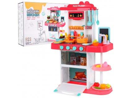 Dětská multifunkční kuchyňka s vybavením červená