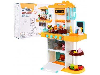 Dětská multifunkční kuchyňka s vybavením žlutá
