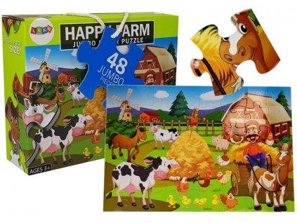 Dětské puzzle farma zvířat 48 ks 1