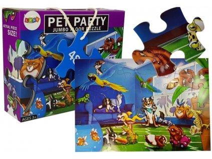 Dětské puzzle domácí mazlíčci 48 ks
