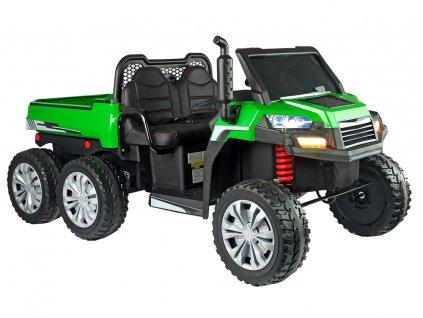 Dětské elektrické autíčko Farmer Truck zeleno žluté