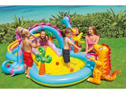 Bazén dětské hřiště Intex svět dinosaurů 7