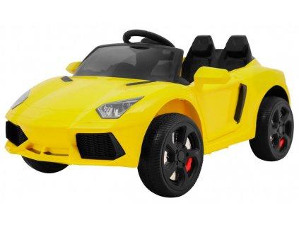Elektrické autíčko Future EVA kola žluté 1