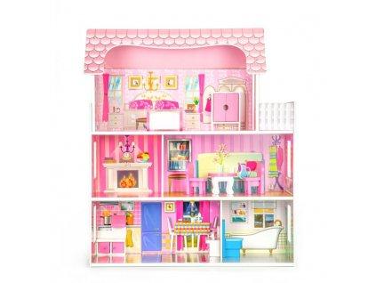 Dřevěný domeček pro panenky s nábytkem 1