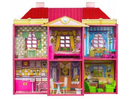Velký domeček pro panenky s nábytkem Villa 1