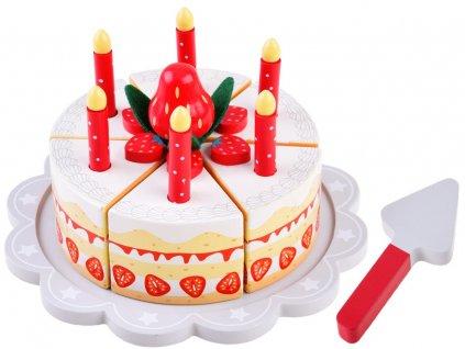 dřevěný narozeninový dort1