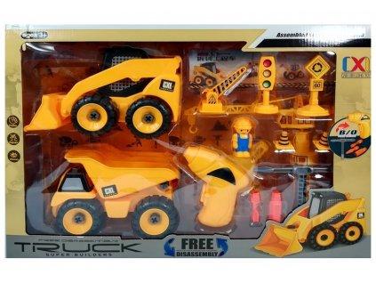 Šroubovací sada stavebních vozidel POŠKOZENÝ OBAL