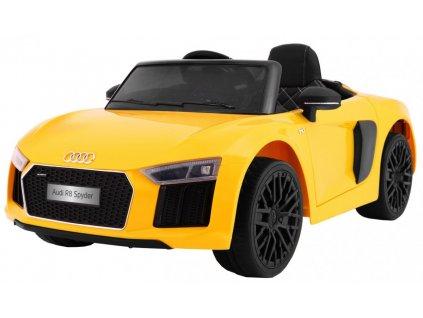 Elektrické autíčko Audi R8 Spyder žluté