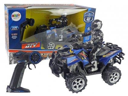 Terénní auto na dálkové ovládání Quad Off Road 2,4GH 110 modré (1)