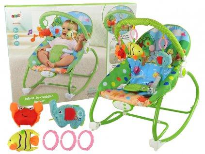 Dětské houpací vibrační lehátko (1)