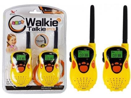 Dětské vysílačky s dosahem až 100 metrů žlutá2