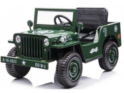 Dětský elektrický vojenský jeep Willys 4x42