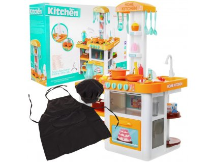 Velká dětská kuchyňka s doplňky + zástěra