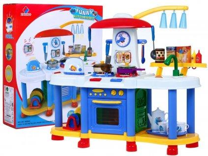 Dětská multifunkční kuchyňka s vybavením modrá