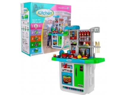 Velká dětská kuchyňka + chladnička + trouba + dřez modrá