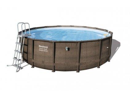 Velký zahradní bazén s konstrukcí Power Steel  488 x 122 cm kompletní sada