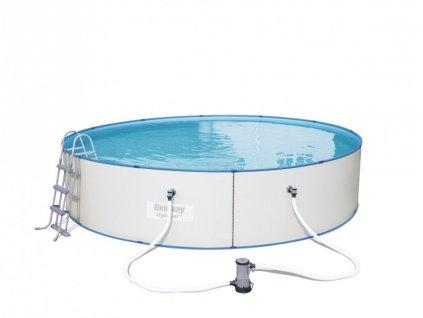 Celoroční bazén s plechovou stěnou 460 x 90 cm