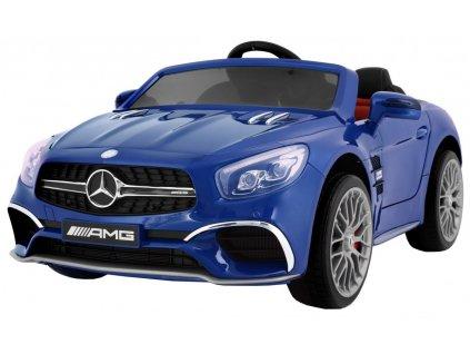 Elektrické autíčko Mercedes Benz AMG SL65, lakovaná modrá