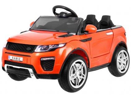 Elektrické autíčko sportovní Rapid Racer oranžové