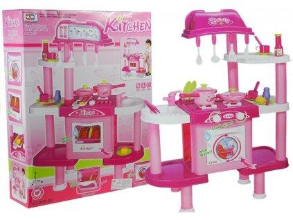 Velká dětská kuchyňka s pračkou a myčkou + příslušenství
