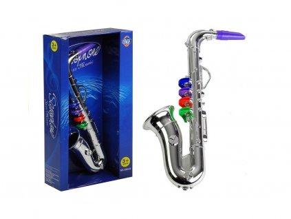 pol pl Instrument Muzyczny Saksofon Srebrny 1206 1