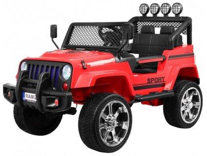 Elektrické autíčko jeep Raptor 4x4 model 2019 červené