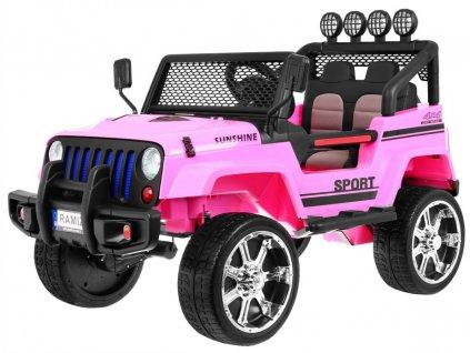 Elektrické autíčko Jeep Raptor 4x4 model 2019 růžové