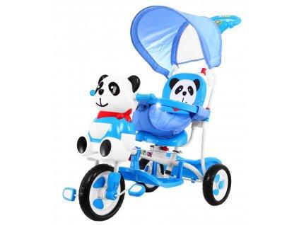 Dětská tříkolka Panda se zvukovými efekty modrá