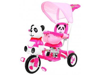 Dětská tříkolka Panda se zvukovými efekty růžová