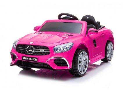 Elektrické autíčko Mercedes SL63 růžové