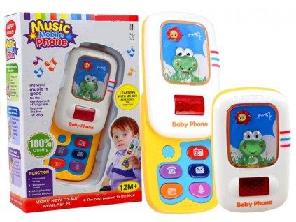 Vzdělávací telefon pro batole žába 1