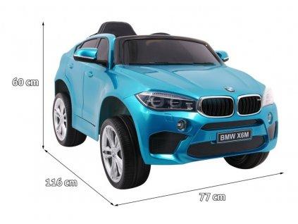 Elektrické autíčko BMW X6M lakované modré
