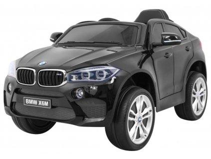 Elektrické autíčko BMW X6 M lakované černé