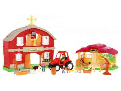 velká farma traktor stodola 1