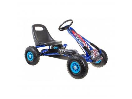 Dětská šlapací motokára formule 01 modrá