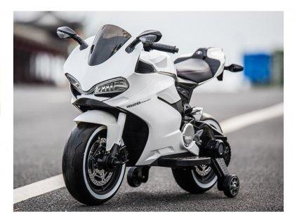 Dětská elektrická motorka SX1628 bílá 5