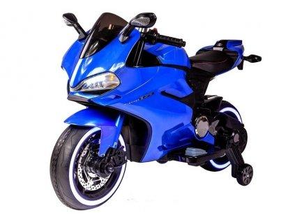 Dětská elektrická motorka SX1628 modrá 1
