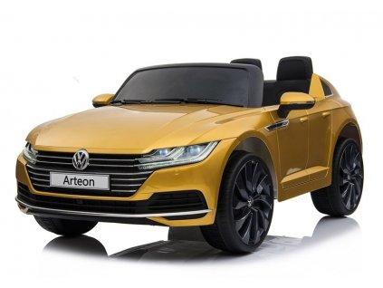 Dětské elektrické autíčko Volswagen Arteon zlatý 1