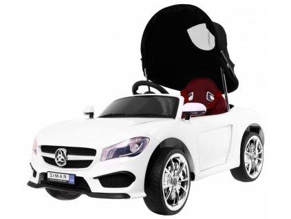 Dětské elektrické auto se stříškou Roadster bílé 1