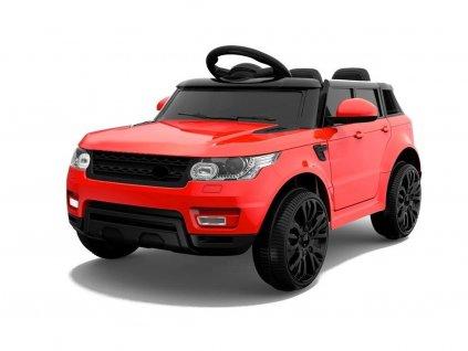 Elektrické autíčko Land Rapid Racer EVA kola červené