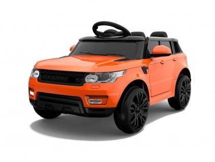 Elektrické autíčko Land Rapid Racer EVA kola oranžové