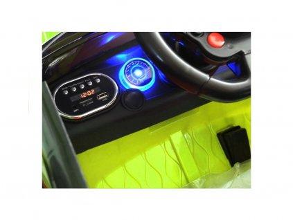 Elektrické autíčko Land Rapid Racer EVA kola zelené