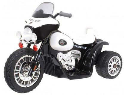 Dětská elektrická motorka černá