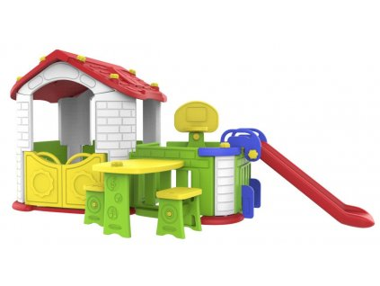 Duzy Dom Z Przedsionkiem 5w1 Czerwony Dach [34941] 1200