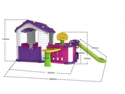 Dětský zahradní domeček 4v1
