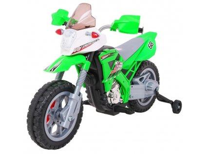 Dětská elektrická motorka Cross zelená (6)