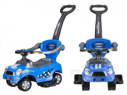 Dětské hrající odrážedlo coupe modré
